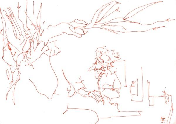 Atelier pour adultes dessin peinture à Liège - Coup de crayon 1