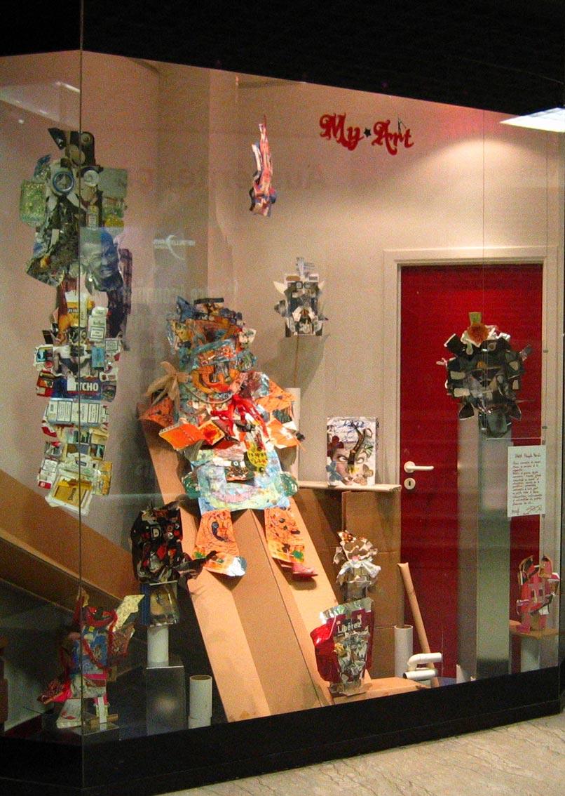 Consommation récup' Art environnement expo à Verviers - Vitrine MyArt