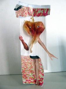 Persona - collage, paper, cardboard, onionskin