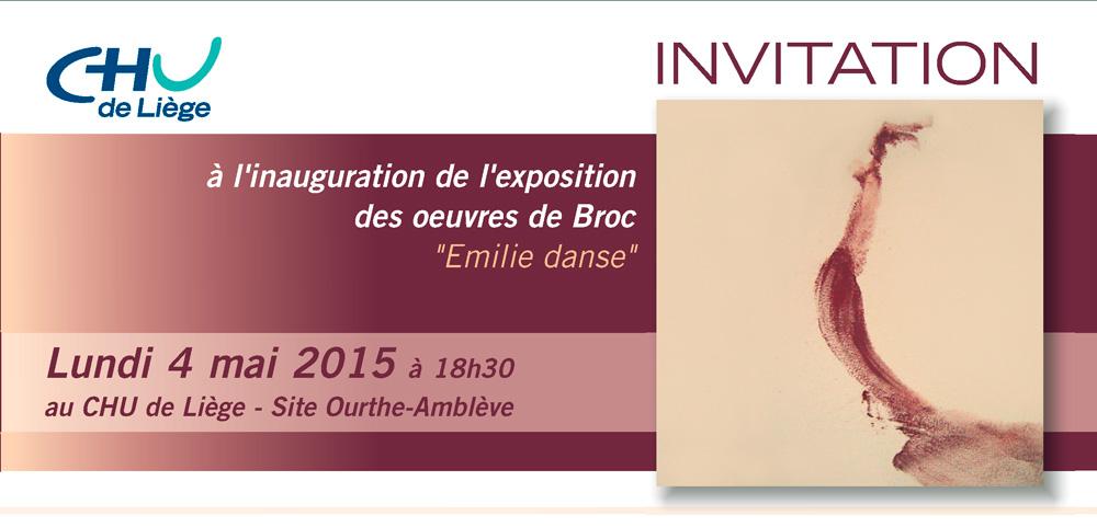 Émilie danse, vernissage au CHU Ourthe-Amblève